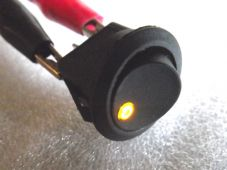 LED Switch round yellow / amber warning led for Kitcar Dashboard fog panel light